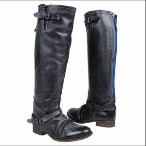 Steve Madden Black Roady Tall Riding Boots